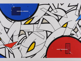 "Michel Pietsch – ""Primary Styles 4"" 2021, Acryl auf Leinwand, 80 x 160 cm, Preis: 3.500 EUR"